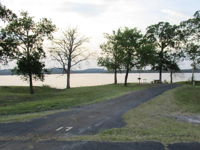 Wildwood - 17Site 17 offers an asphalt back in drive with an unobstructed view of the lake.