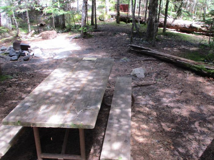 Site amenities. Picnic Table and Fire Ring