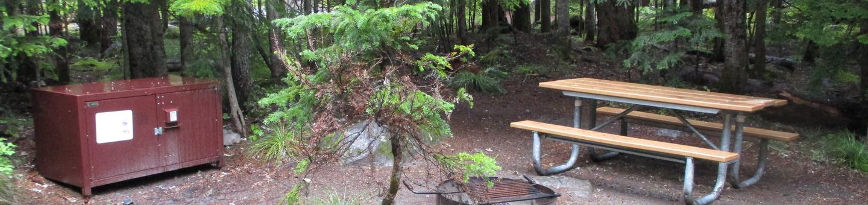 Picnic Table, Fire ring, and Bear boxPicnic Table, Fire ring, and Bear box