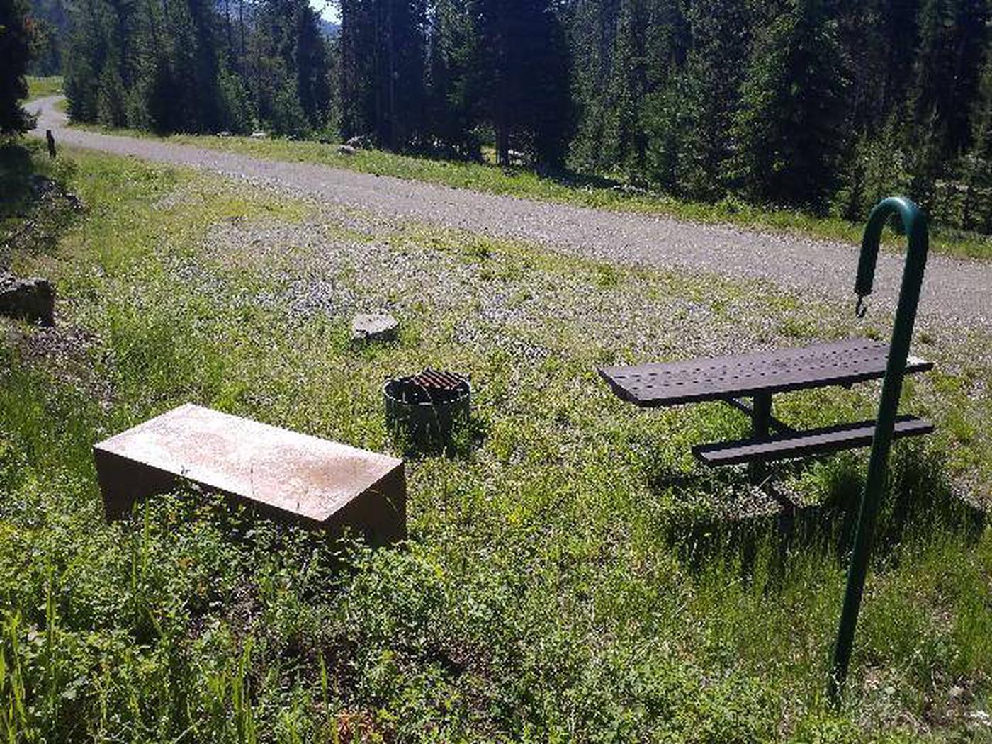 Threemile Campground Campsite 2 - Back View