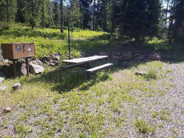 Threemile Campground Campsite 3 - Picnic Area
