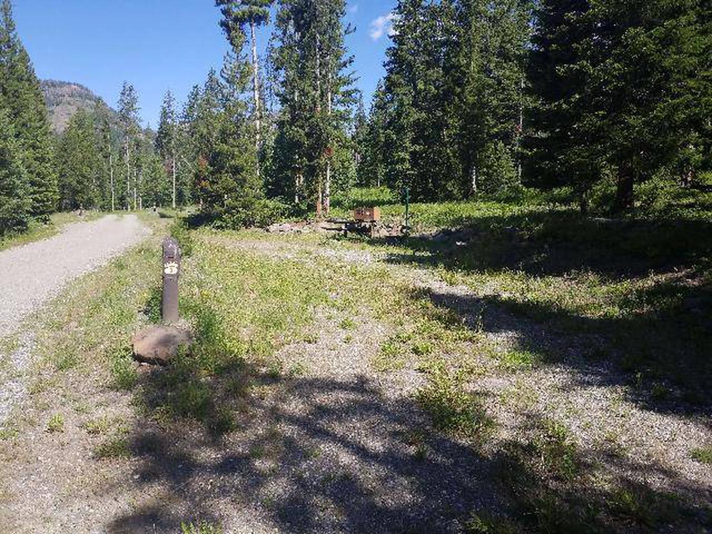 Threemile Campground Campsite 3 - Post