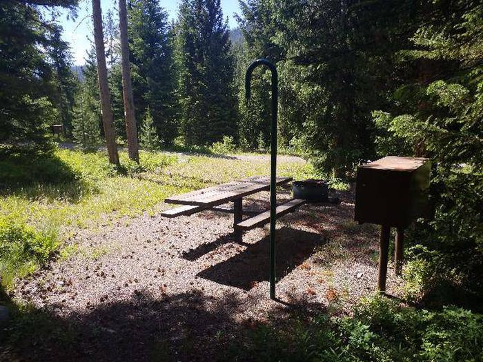 Threemile Campground Campsite 6 - Back View