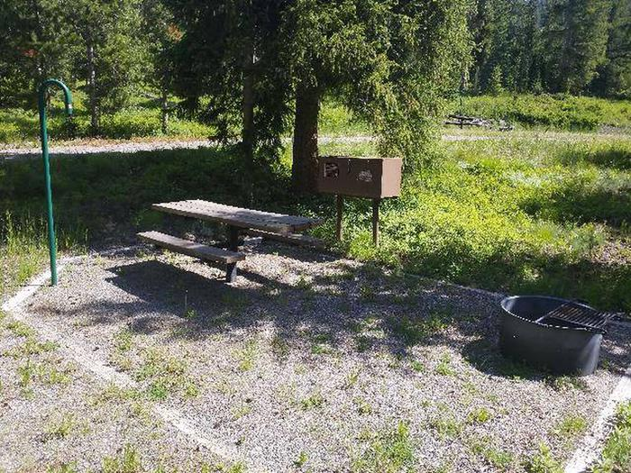 Threemile Campground Campsite 7 - with picnic table, fire ring, and bear boxThreemile Campground Campsite 7