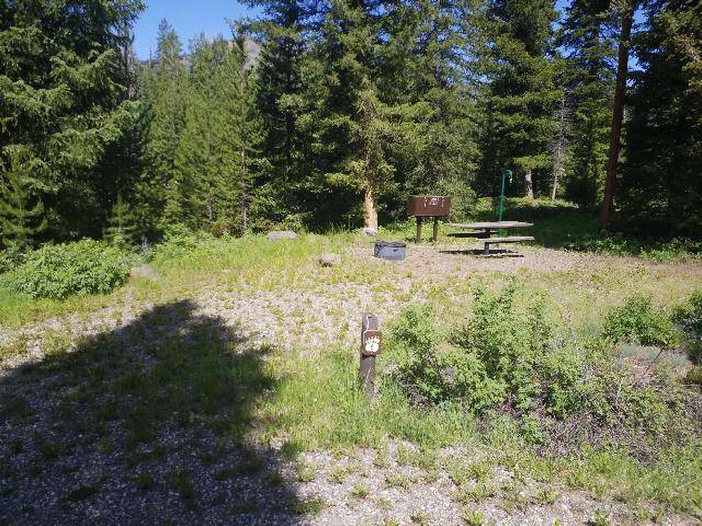 Threemile Campground Campsite 8 - Post