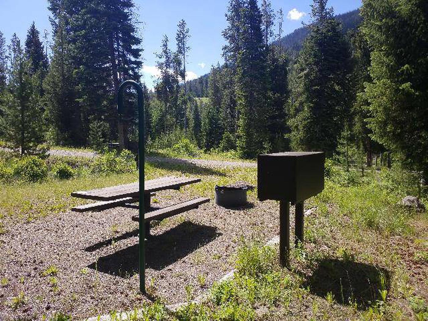 Threemile Campground Campsite 8 - Back View