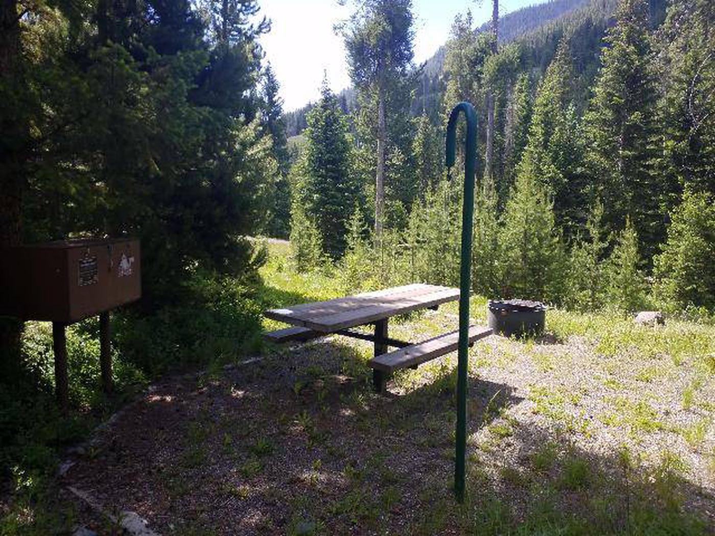 Threemile Campground Campsite 9 - Back View
