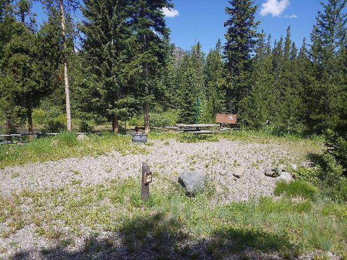 Threemile Campground Campsite 10 - Post