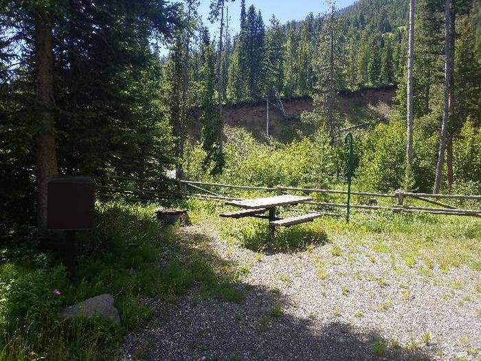 Threemile Campground Campsite 12 - Picnic Table