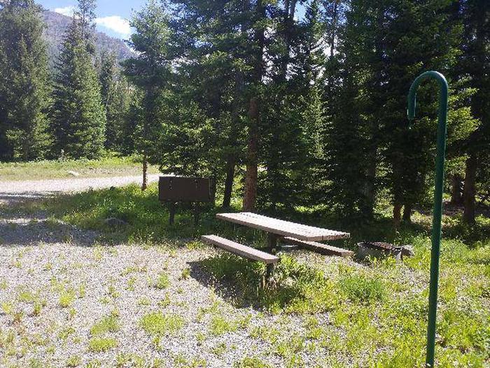 Threemile Campground Campsite 12 - Back View