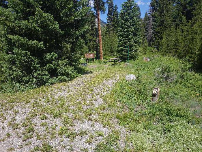 Threemile Campground Campsite 13 - Post