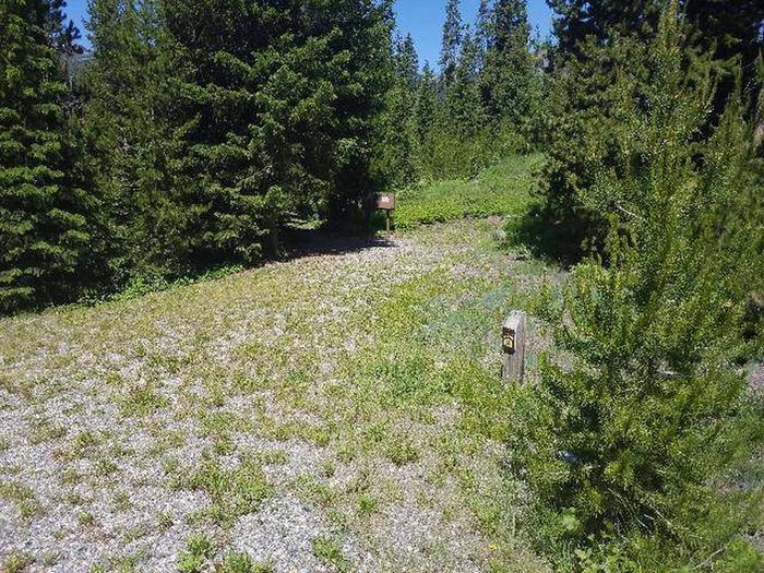 Threemile Campground Campsite 15 - Post