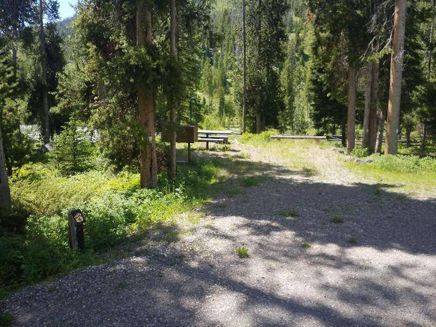 Threemile Campground Campsite 16 - Post