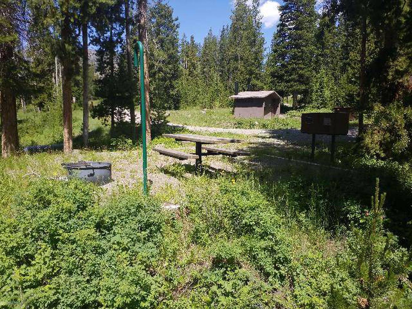 Threemile Campground Campsite 16 - Back View