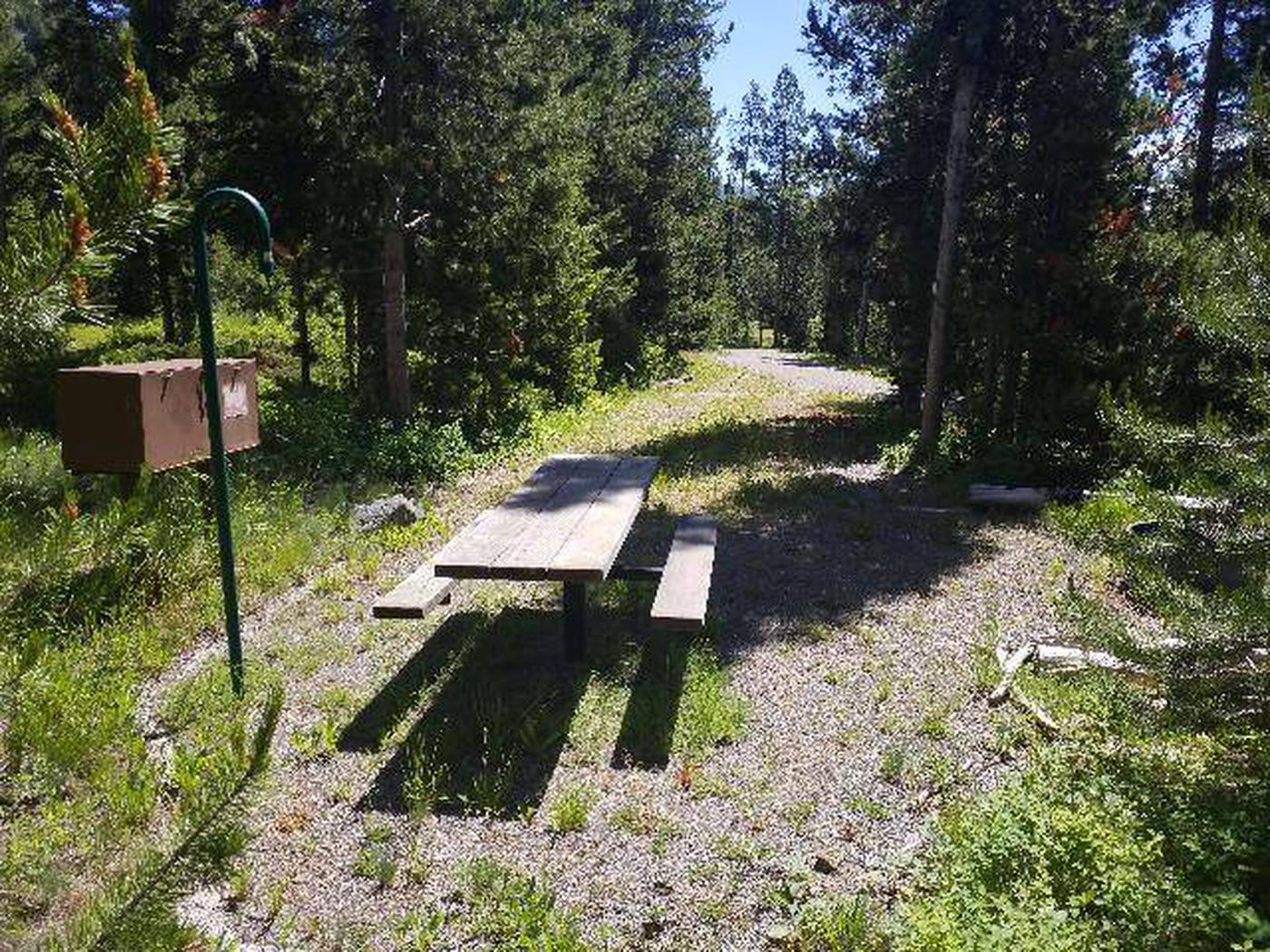 Threemile Campground Campsite 17 - Back View