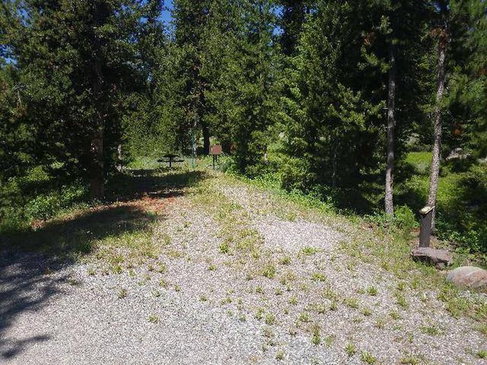 Threemile Campground Campsite 17 - Post