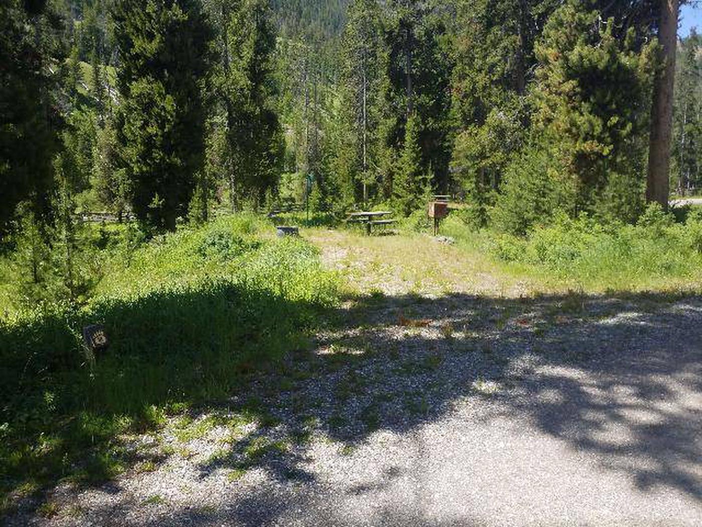Threemile Campground Campsite 18 - Post