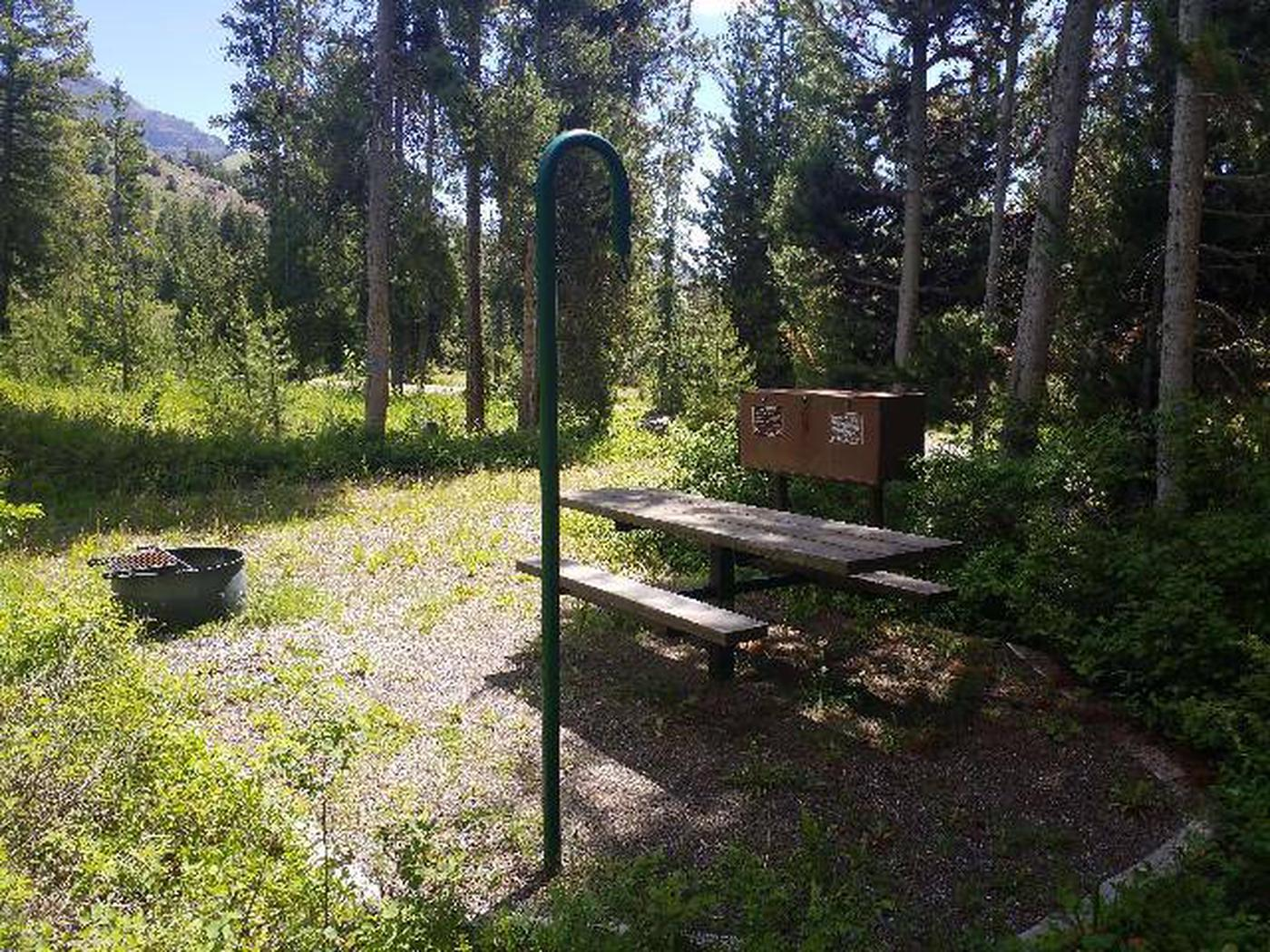 Threemile Campground Campsite 19 - Back View