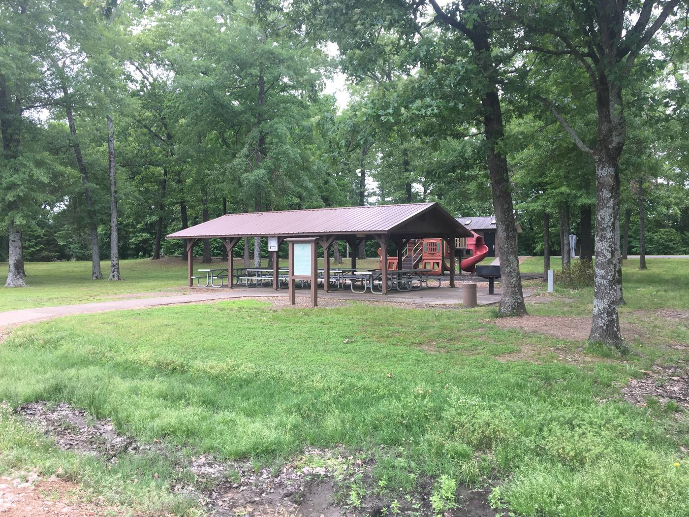 Group shelter, and playgrounds too