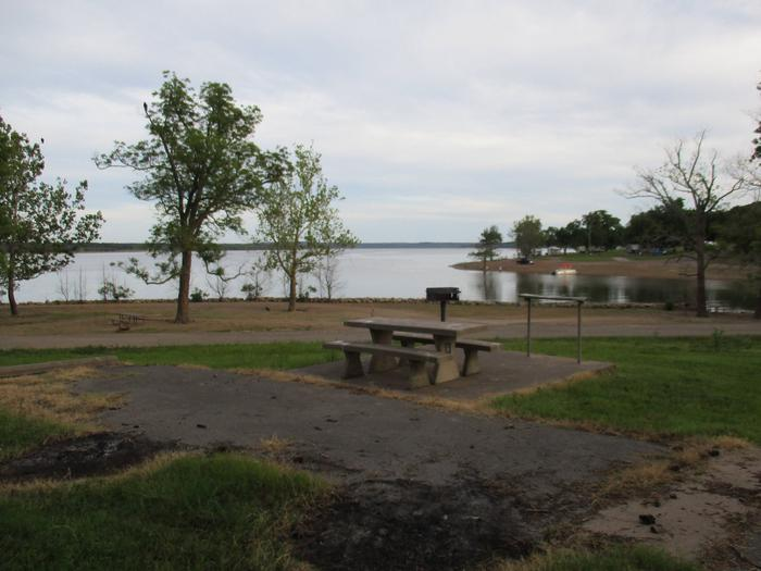 Site 16 - TFSSite 16 offers an excellent lake view; however, the table is on the wrong side of the site for most camping units.