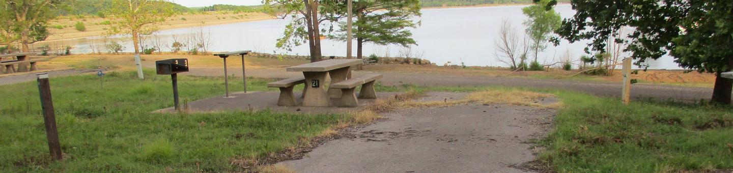 Site 21 - TFSSite 21 offers a back in drive with concrete picnic table.