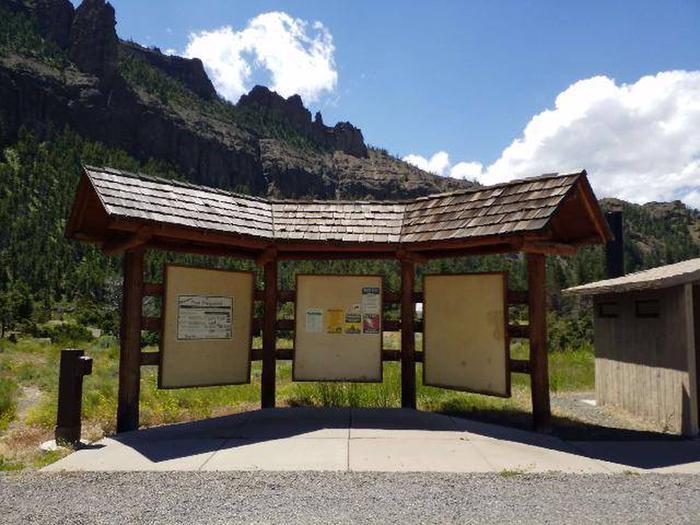 Rex Hale Campground Information Board