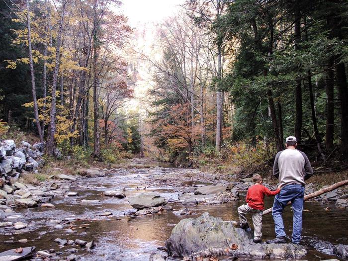 Fishing on Paint Creek