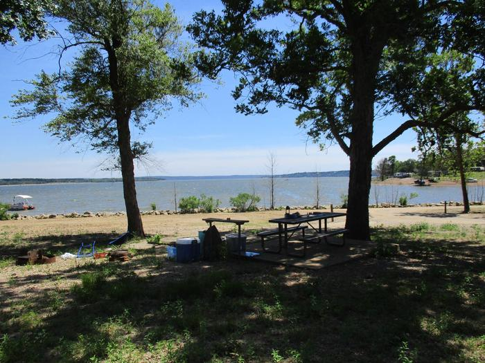 Site 1 - TFSSite 1 offers a metal picnic table, utility table and fire ring.  It also offers nice lake view.