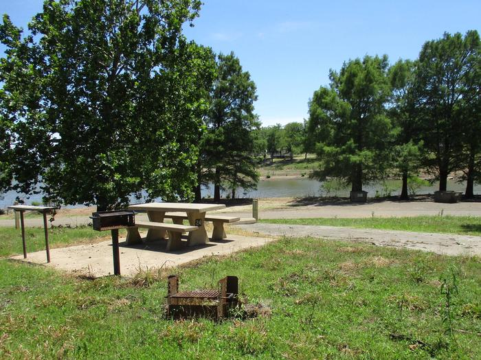 Taylor Ferry South - 24Site 24 offers a concrete picnic table, pedestal grill, utility table and fire ring.