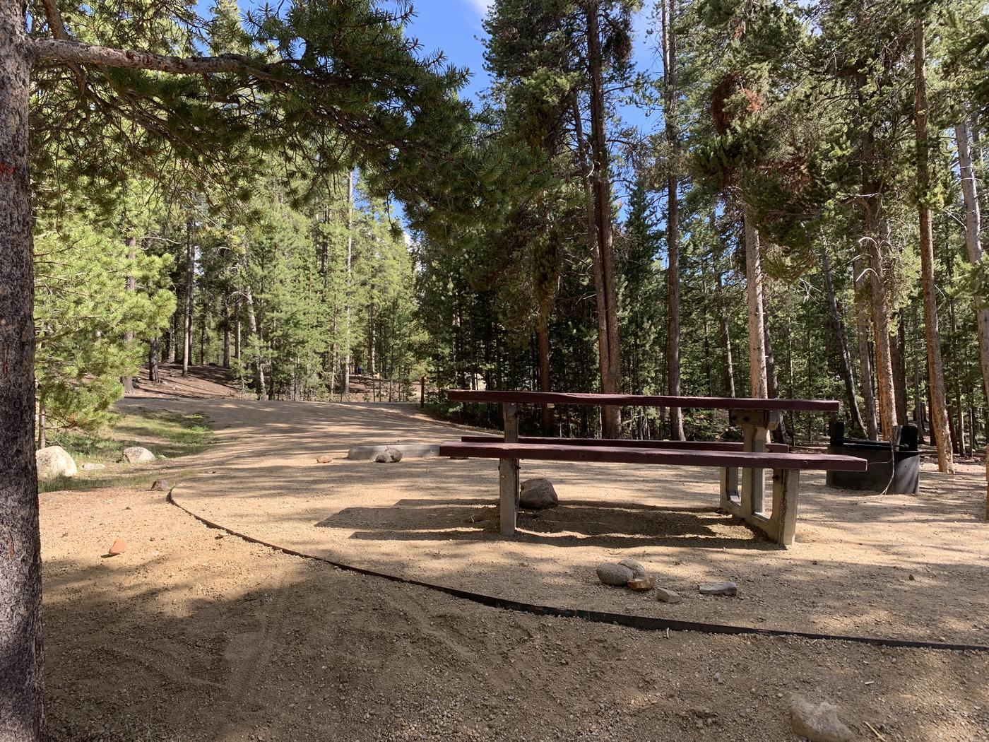 Molly Brown Campground, site 6 picnic table and fire ring 2