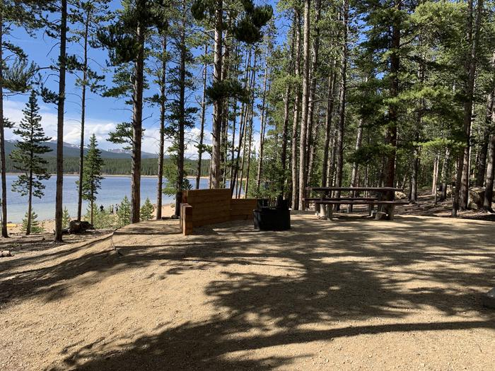 Molly Brown Campground, site 6 picnic table and fire ring 4