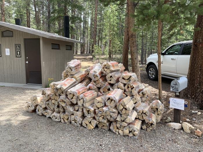 Firewood usually available for purchase at Camp Host site