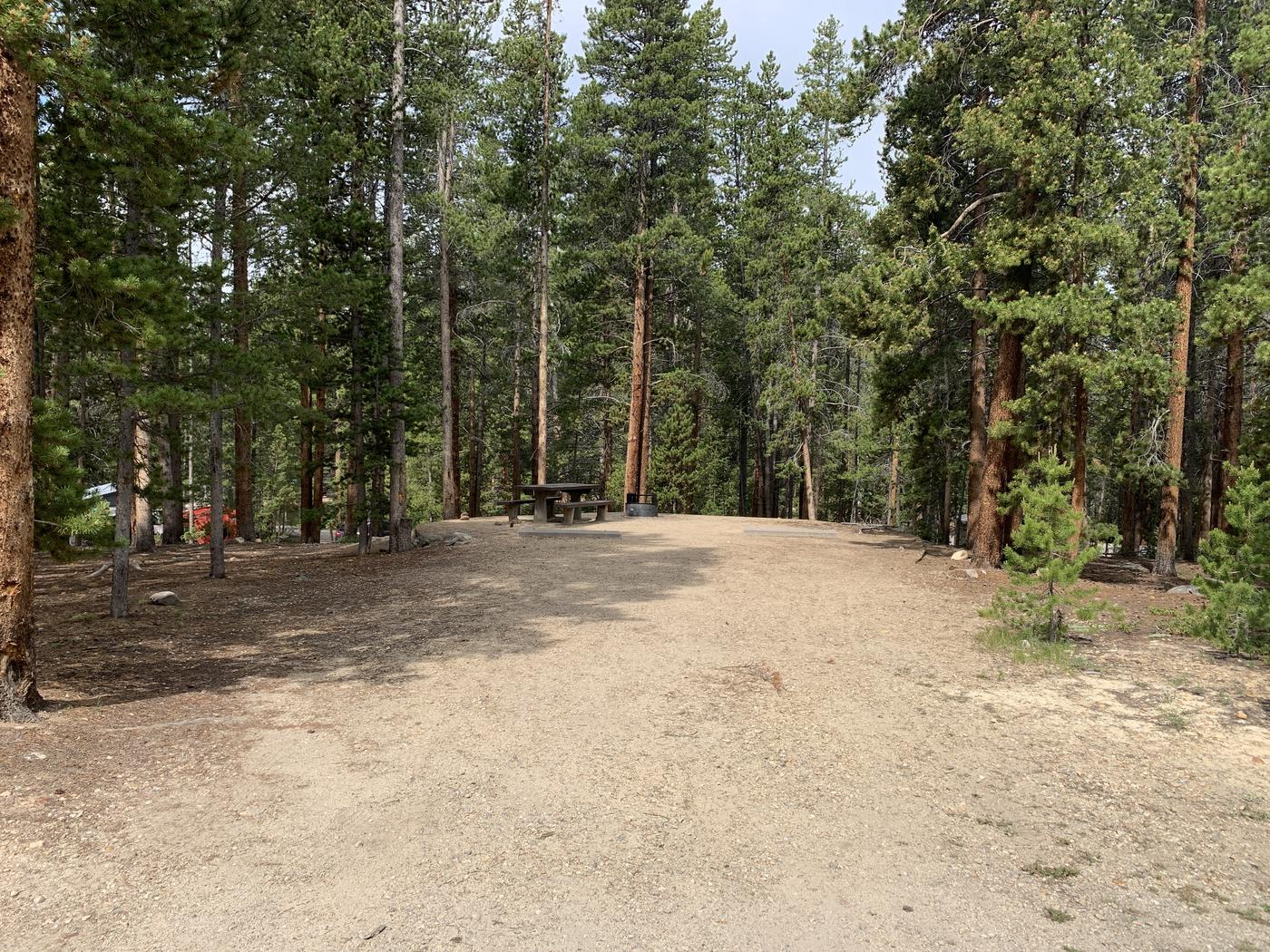 Molly Brown Campground, site 26 parking