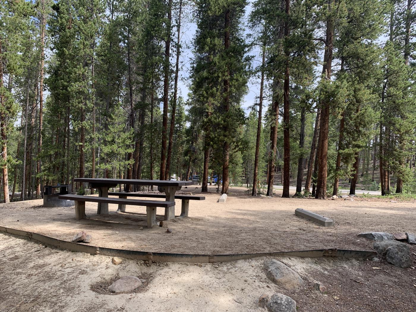 Molly Brown Campground, site 26 side view 2
