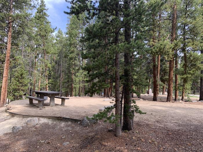 Molly Brown Campground, site 26 side view