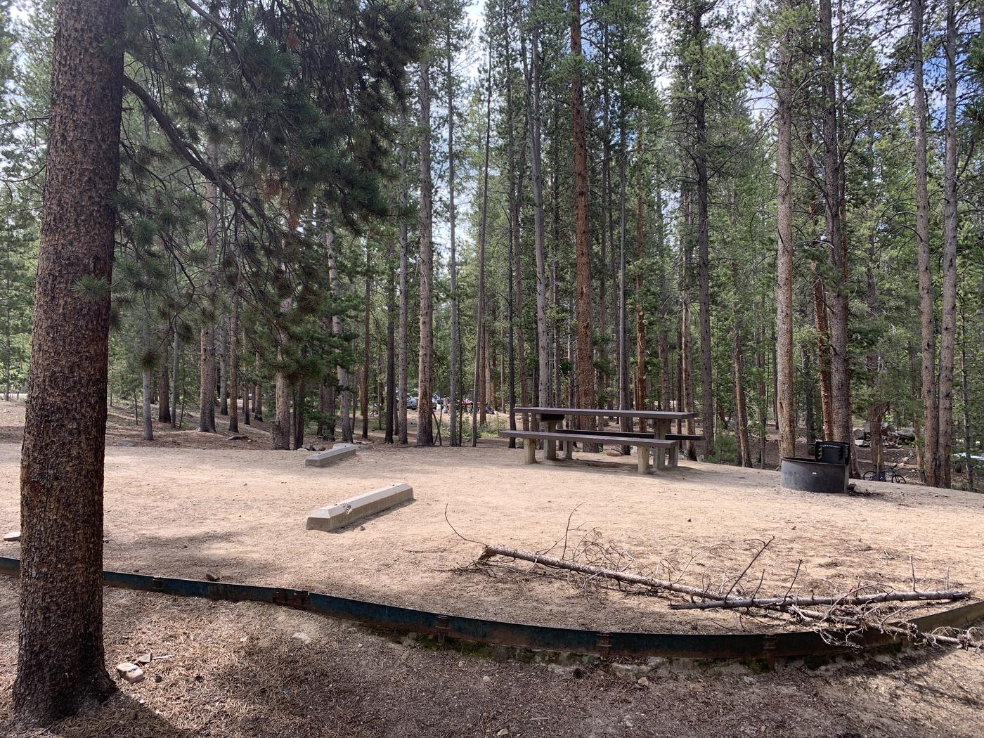 Molly Brown Campground, site 26 side view 3