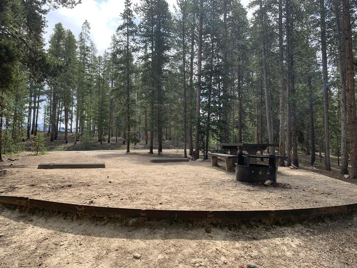 Molly Brown Campground, site 26 picnic table and fire ring 2