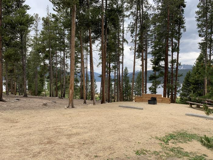 Molly Brown campground, site 8 parking view 3