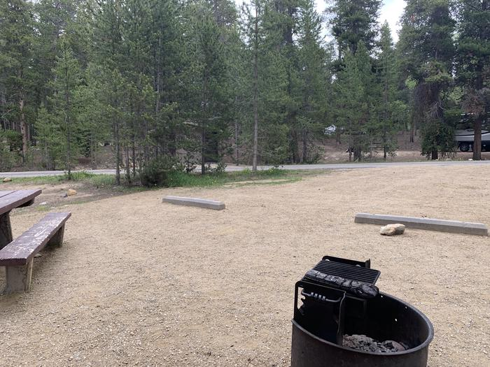 Molly Brown campground, site 8 parking view
