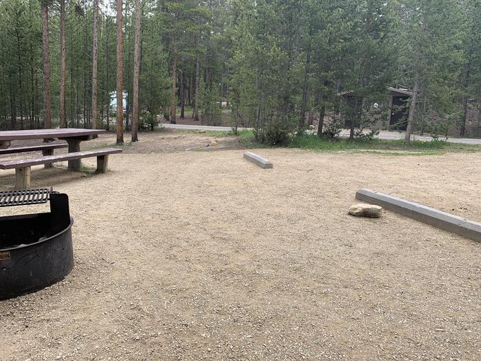 Molly Brown campground, site 8 parking view 2