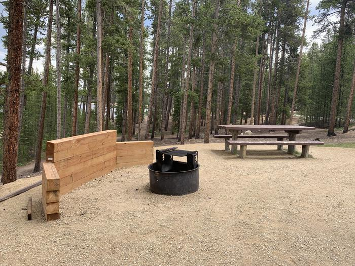 Molly Brown campground, site 8 picnic table and fire ring 2