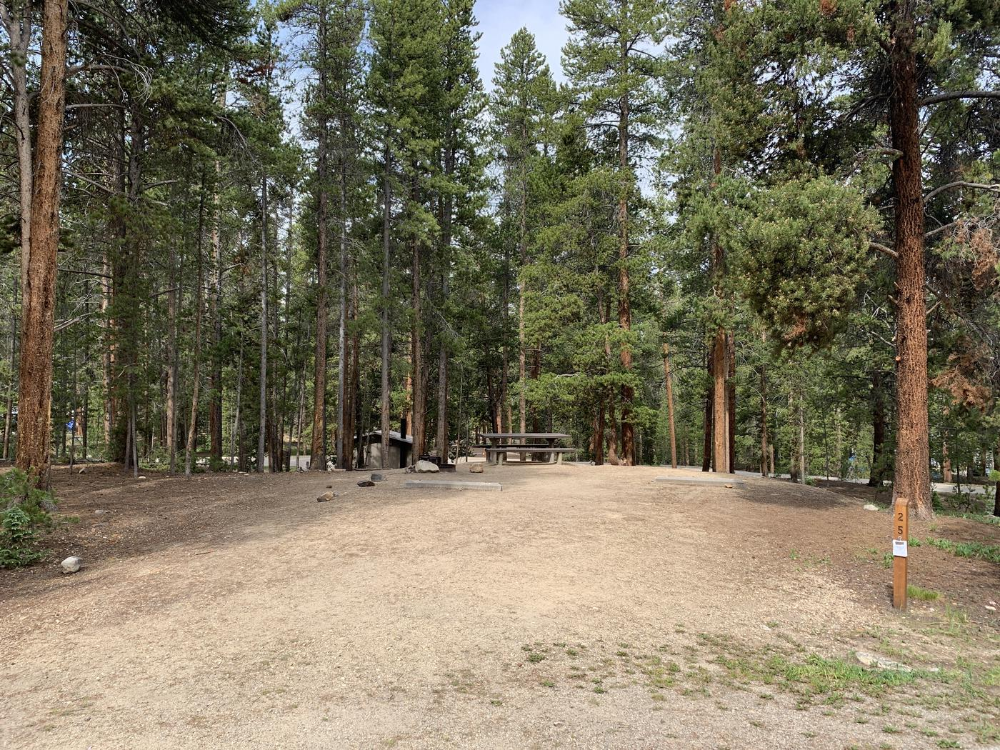 Molly Brown Campground, site 25 parking 2