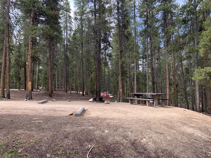 Molly Brown Campground, site 25 picnic table 2