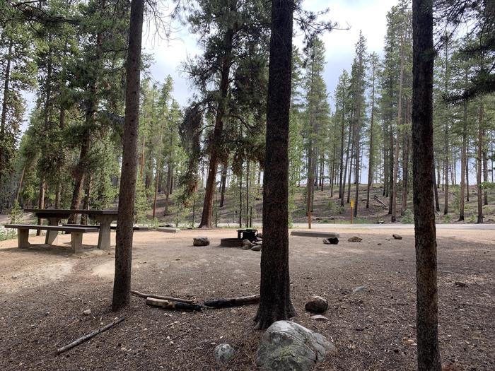 Molly Brown Campground, site 25 picnic table and fire ring 4