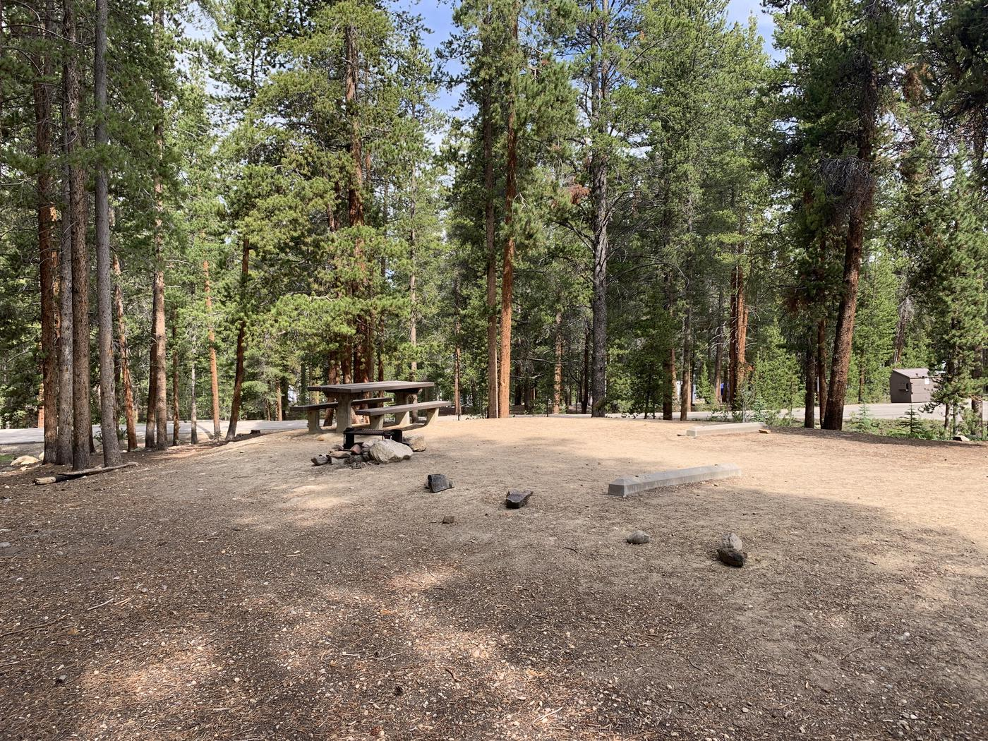Molly Brown Campground, site 25 picnic table and fire ring 5