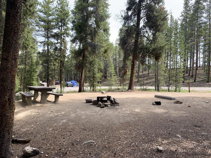 Molly Brown Campground, site 25 picnic table and fire ring 6