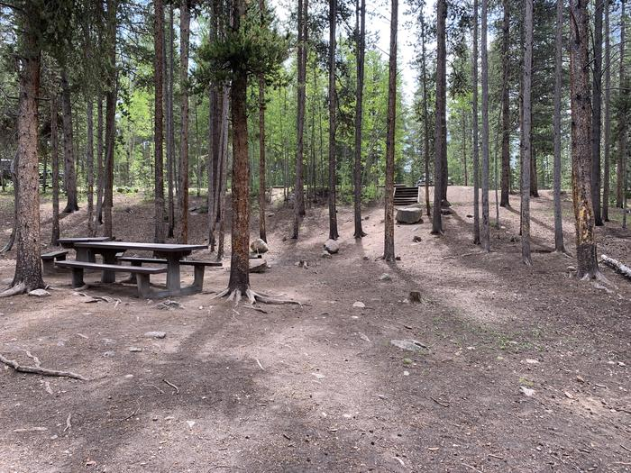 Molly Brown Campground, site 32 picnic table