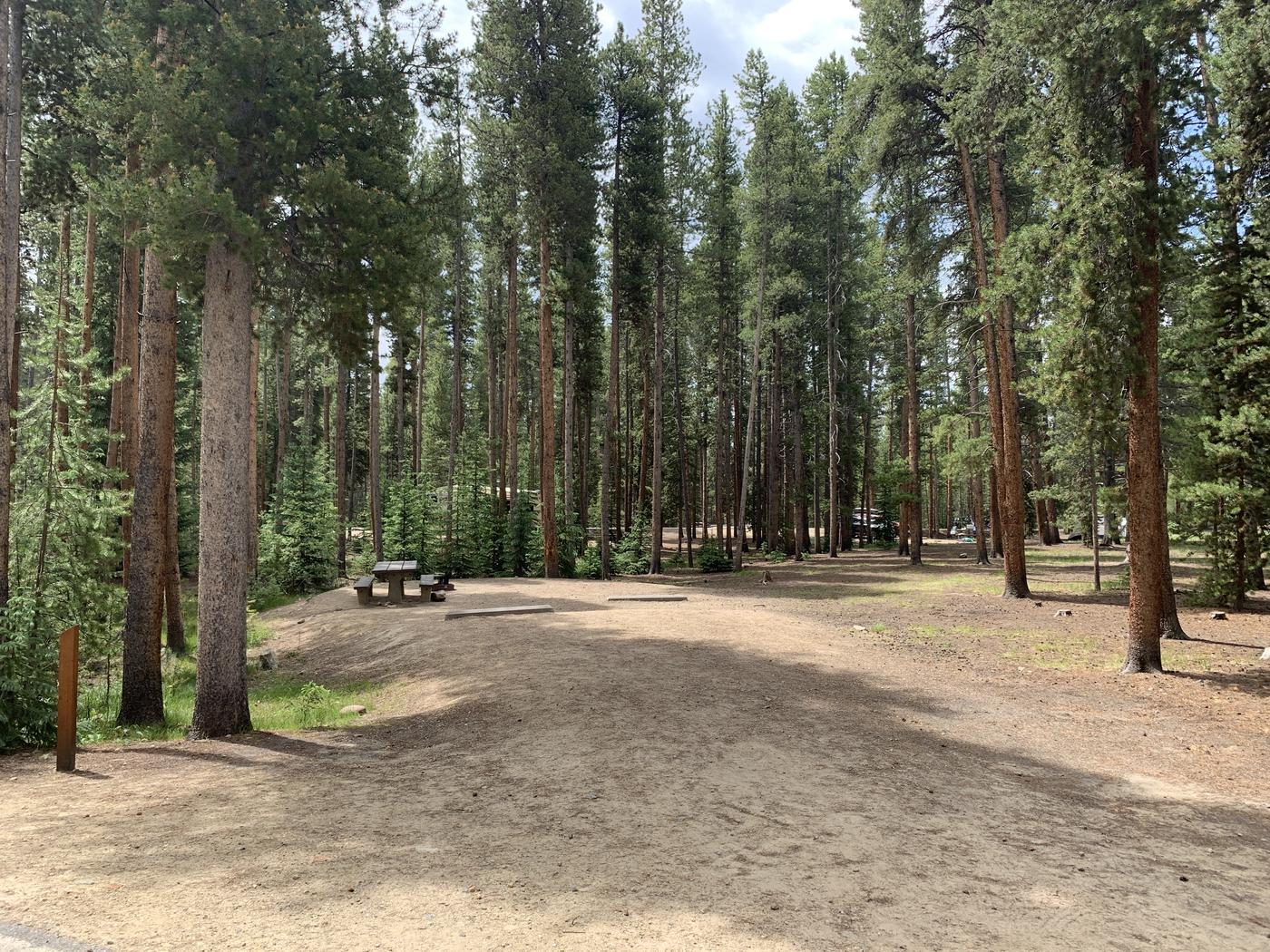 Molly Brown Campground, site 48 parking