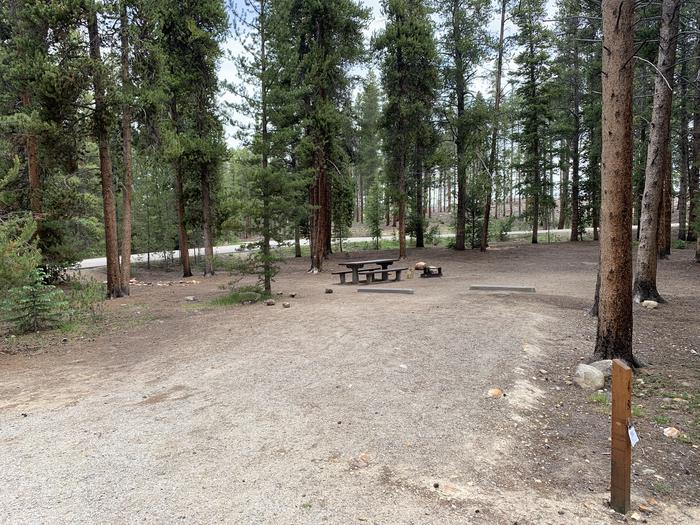 Molly Brown Campground, site 49 parking