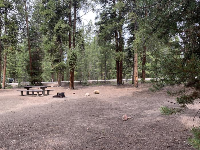 Molly Brown Campground, site 49 picnic table and fire ring 2